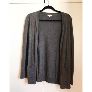 Gap gray long cardigan